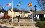 Kildare village shows solidarity with  fellow Europeans - and flags' photo goes viral!