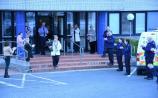 Naas gardaí bid a 'socially distant' farewell to retiring Rose McCabe