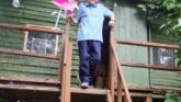 Schoolboy and grandfather built a treehouse during Covid-19 lockdown