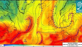 Weather forecast for Ireland for the weekend from Met Eireann