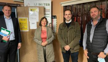 Pic Supplied: Minister Charlie McConalogue, Senator Fiona O'Loughlin, Cllr. Rob Power and David Owens