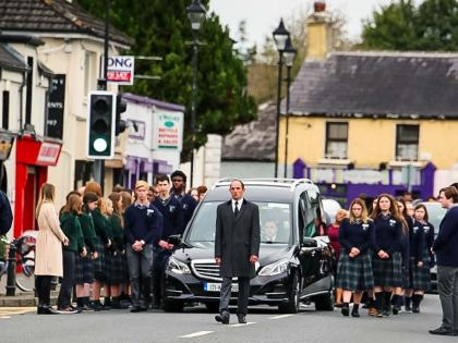 Heart wrenching scenes this morning for final farewell to