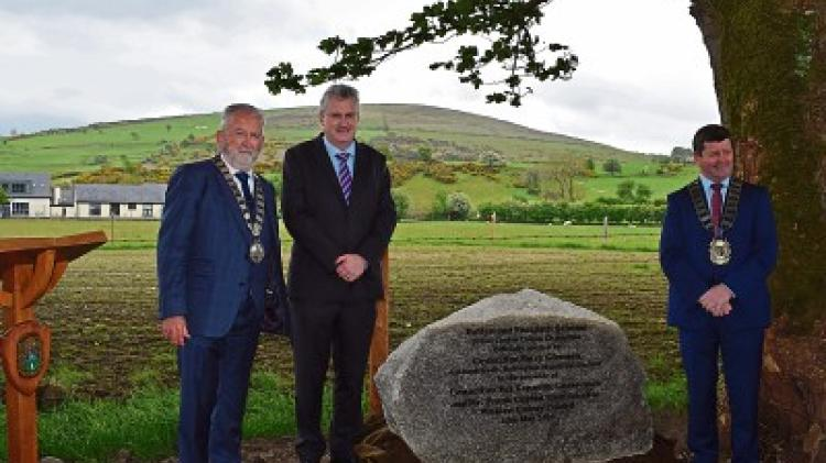 Local councillor unveils footpath in west Wicklow