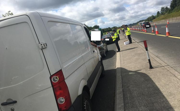 Kildare Gardaí mount High Visibility Checkpoint on M9 southbound yesterday with 2 drivers arrested for suspected drug driving